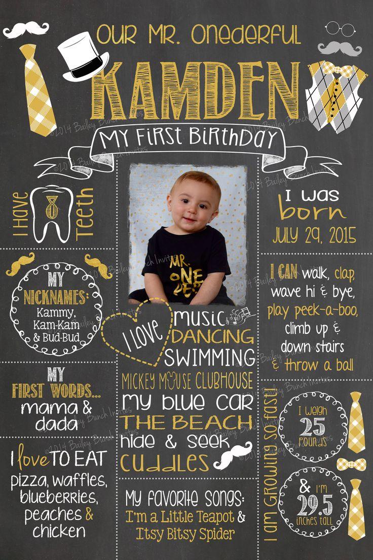 how to make 1st birthday chalkboard