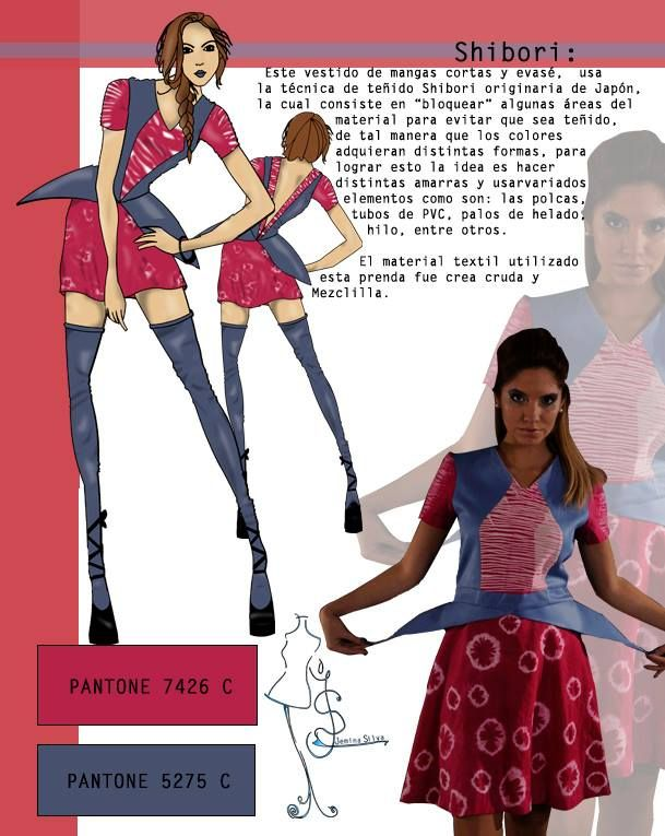 Shibori: Textiles III, Teñidos, 2014 Diseño: Jemina Silva