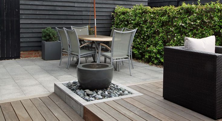 112 best images about garden water feature on for Garden decking features