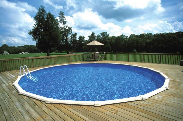 Round Above Ground Swimming Pool With Deck Built Around It Pool Ideas Pinterest Pools