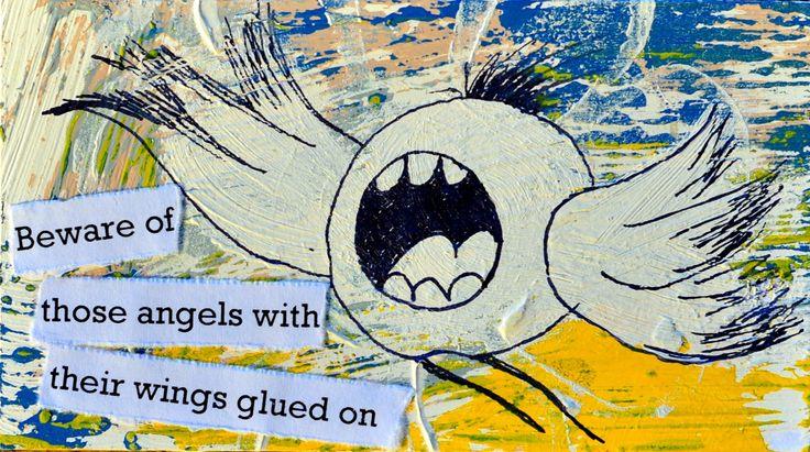 Strange angels. Miniature art by Bea Pierce.