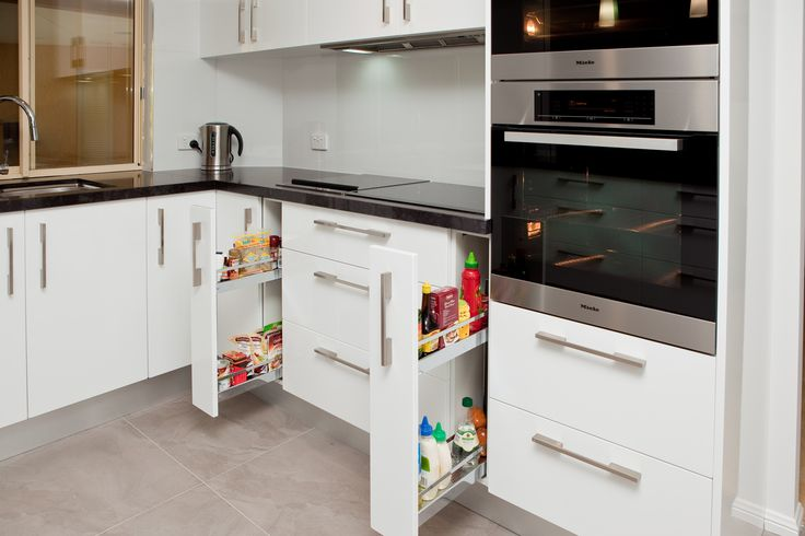 Need storage space for spices and sauces near the hotplate? www.onecallkitchens.com.au