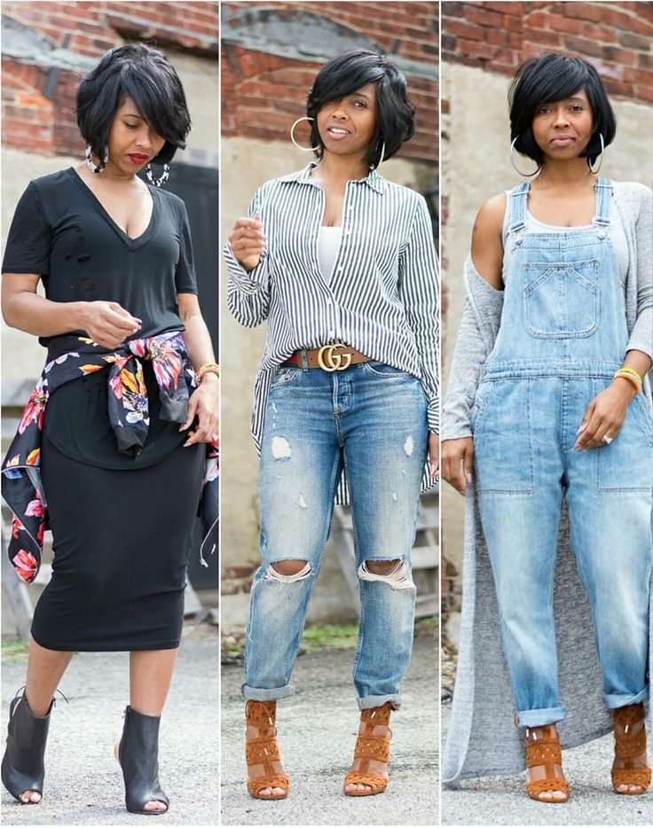 Lookbook, Spring outfit idea, Summer Outfit Idea, denim overalls, Gucci belt, all black outfit, boyfriend jeans, Bob haircut. Instagram:  sweeneestyleblogger