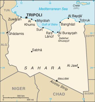 Country of Libya Map