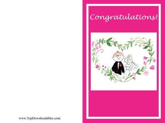 114 best DIY Free Wedding Printable Templates images on Pinterest - free congratulation cards