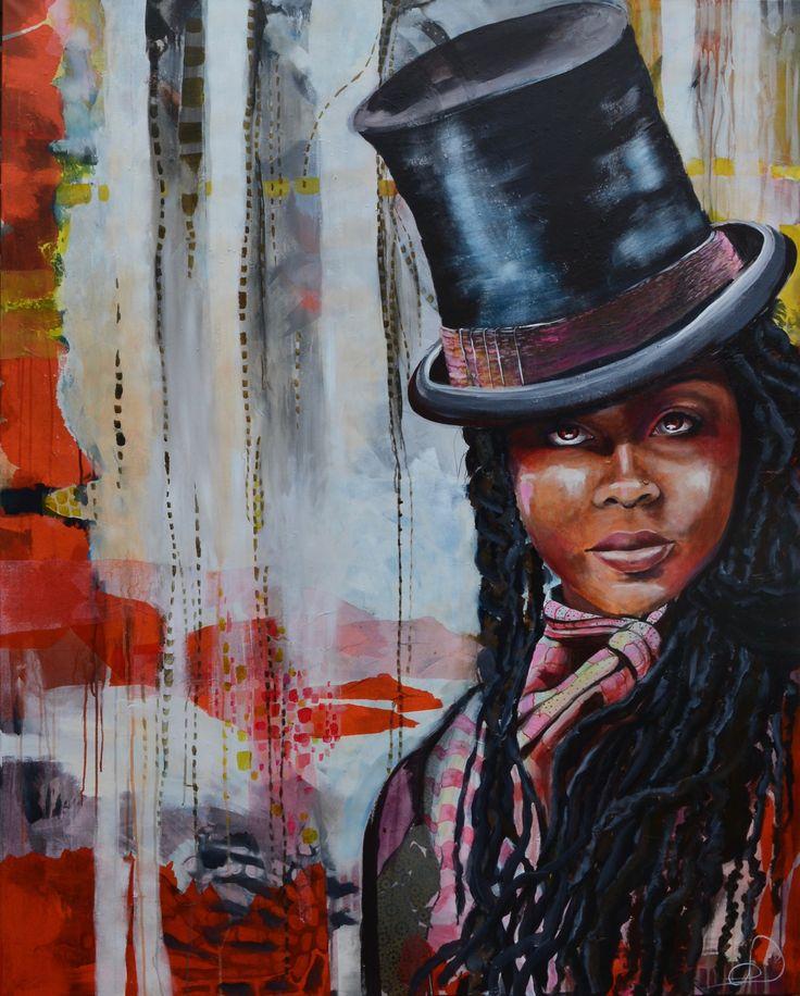 Oh my, i'm feeling high 120x150 cm. Acrylic on canvas. made by Naja Duarte.
