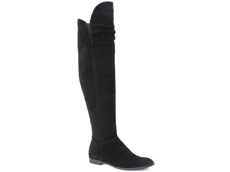 Zwarte over de knie laarzen / over the knee boots van Lamica €179,95 #overthekneeboots #boots