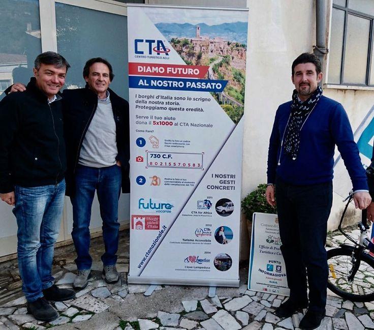 #LavoriInCorso per il CTA Nazionale! Il Presidente, Pino Vitale, ha incontrato, il Sindaco di Castellabate, Costabile Spinelli, per la presentazione del Progetto #CTAeBIKE. L'iniziativa vuole incentivare il #turismosostenibile e premiare i #BorghiPiùBellidItalia attraverso la donazione di #5X1000 #5permille #TravelEnjoyRespect #WorkInProgress #benevenutialsud #cilento#BiciElettriche.