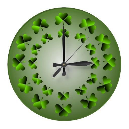 Shamrock Wall Clock