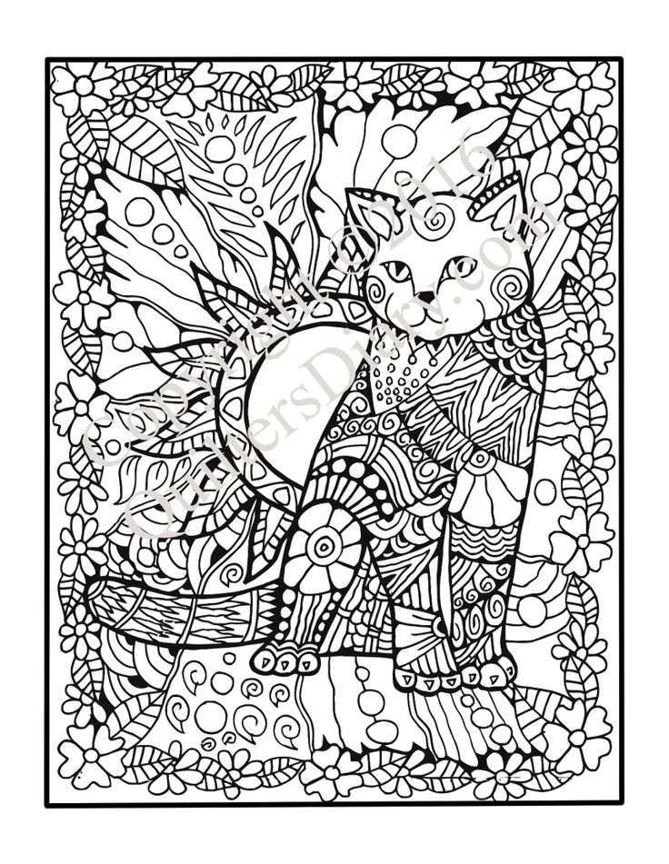 629 best images about Adult Colouring Cats Dogs