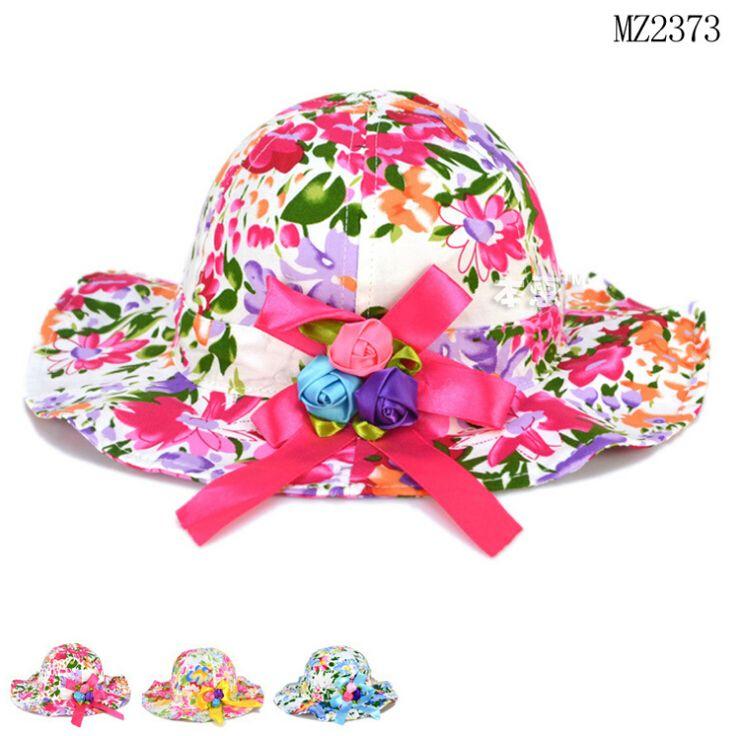 Дешевое 2015 весна лето 5 шт./лот детей шапка красочные цветы шлем ведра младенца девушки на пляже шляпы шляпа солнца возраст для 1 4 лет, Купить Качество Шапки и кепки непосредственно из китайских фирмах-поставщиках:       2015 весна-лето 5 шт./лот детей красочные цветы ведро шляпу ребенка девочек, пляжная шляпы шляпа от солнца в