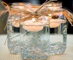 Mason jars are a definite!