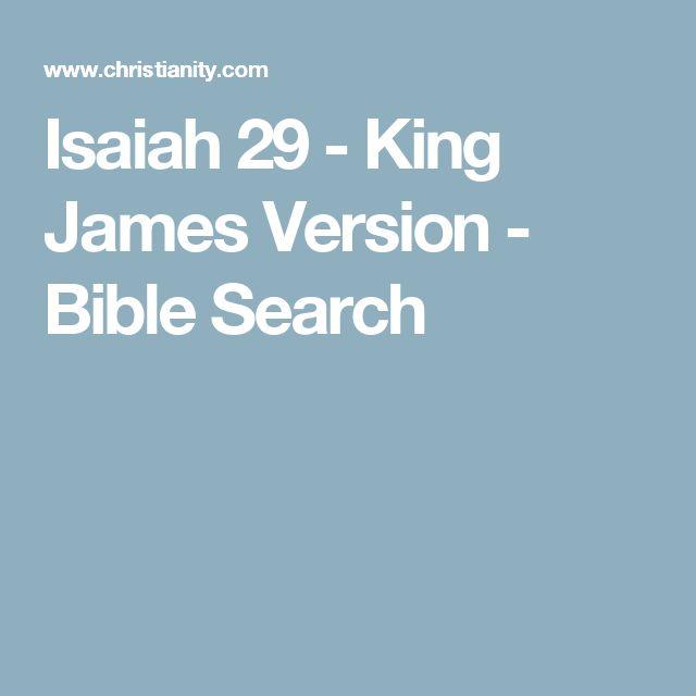 Isaiah 29 - King James Version - Bible Search