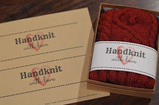 """Cobberson & Co. free printable handknit gift tag - this is much cuter than the ones that say """"I spent so much time on this"""""""