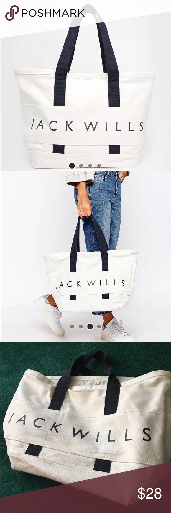 Jack Wills Weekender Bag Good condition, a little worn but only used a couple time. Make an offer! Purchased from asos Jack Wills Bags Travel Bags