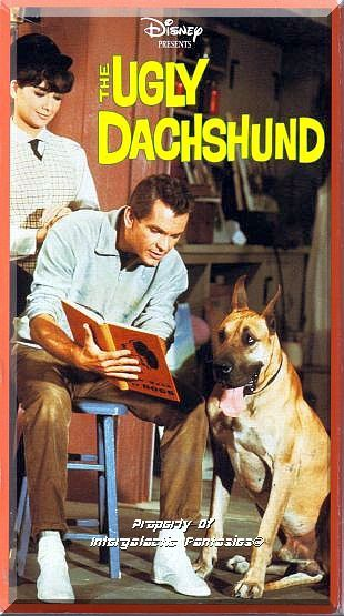 VHS - The Ugly Dachshund (1966) *Suzanne Pleshette / Dean Jones / Walt Disney* by FantasticFinds2015 on Etsy