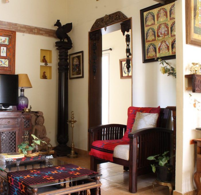 Take the tour of an artist and collector's dream home in Bangalore! Traditional arts and crafts add warmth and a gracious charm to this beautiful home...