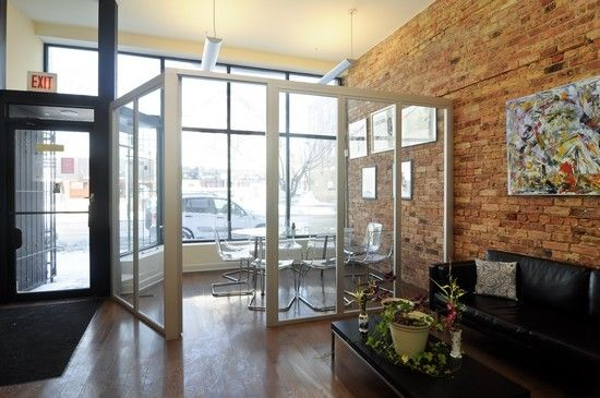 New 1600sf office w/7 private work stations, plus two large 3 bedroom apartments with in-unit laundry, all stationed at a busy 6-corner intersection with close public transportation in Lincoln Park/Lakeview area.