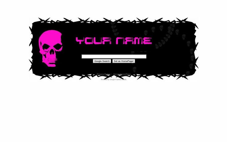 Pink Skull Theme from ShinySearch