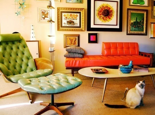 atomic age living room......it was about comfort