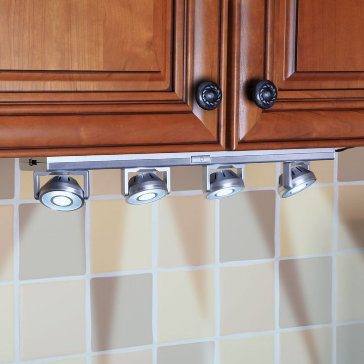 The Under Cabinet Pivoting Spotlights. Plugs in. Now that is a good idea.