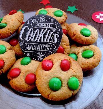 De délicieux biscuits aux couleurs du père Noël, proposés par Iza pou notre jeu concours de Noël 2014.
