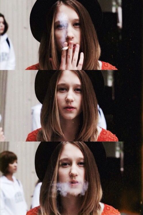 American Horror Story season 1. Taissa Farmiga as Violet Harmon. Smoking