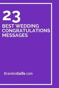 23 Best Wedding Congratulations Messages