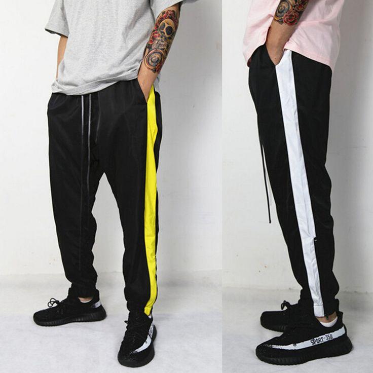 Aliexpress.com: Acheter Date hommes vintage glissière latérale joggeurs kanye west hip hop harem pantalon hommes de harajuku pantalon casual pantalon de sport de sportswear trousers fiable fournisseurs sur Hard Xu Store