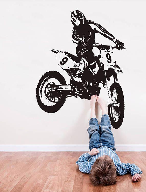 dirt bike wall decal motocross wall sticker motorsport motor