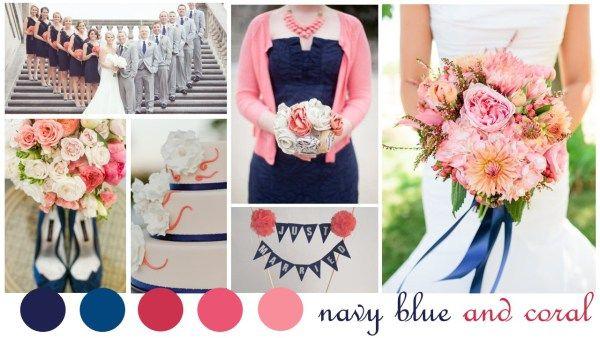 Navy Blue & Coral Wedding Inspiration