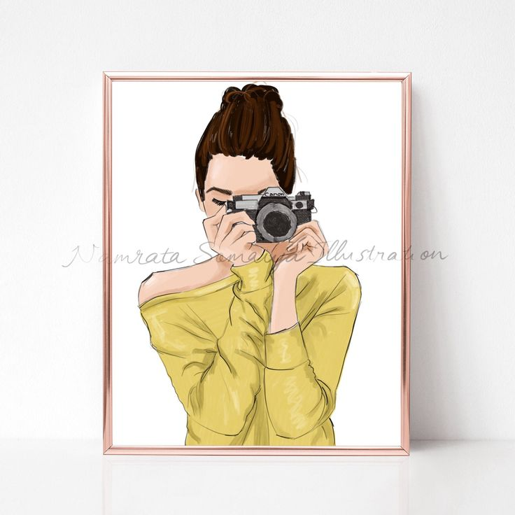 Excited to share the latest addition to my #etsy shop: Capturing moments in camera.  (Fashion Illustration art print) #art #drawing #collectibles #prints #artprint #illustration #fashionillustration #fashiongirl #digitalart