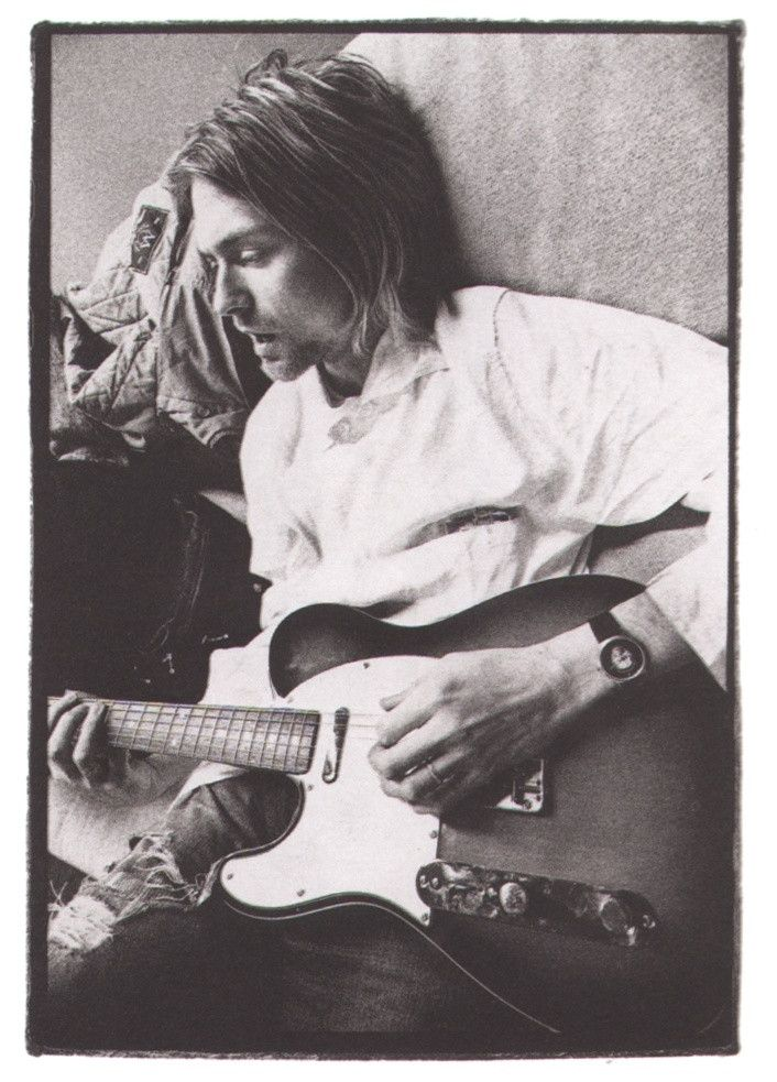 Kurt Cobain playing a Telecaster