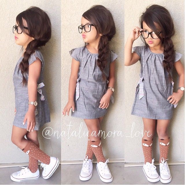 Poofy side braid feeling extra girly This dress is just toooo adorable available at @little_reb3lz  Fox Socks from @taylorjoelledesigns