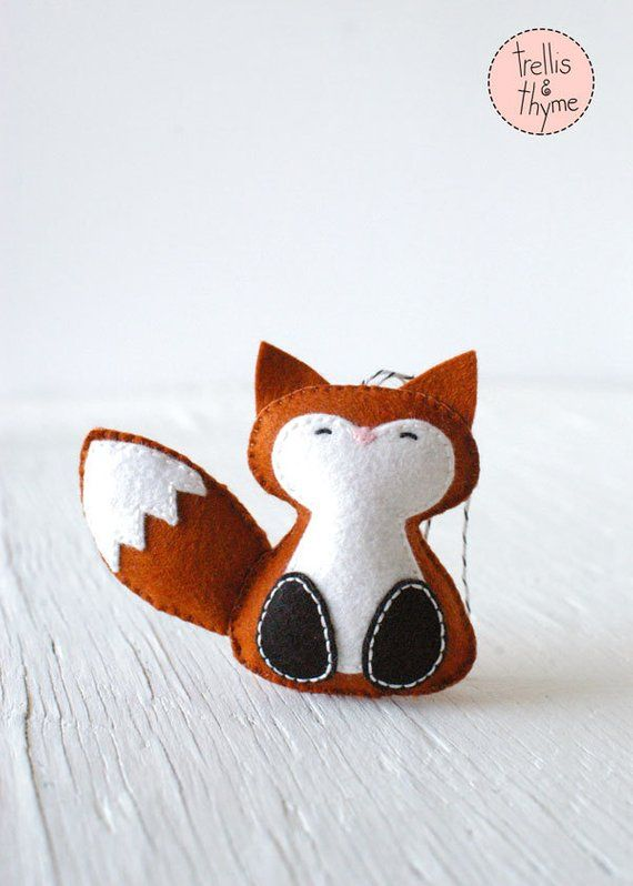 pdf pattern woodland fox winter felt ornament pattern christmas