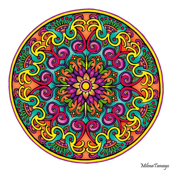 Mystical Mandala Coloring Book (Dover Design Coloring Books) by Alberta Hutchinson - p.23