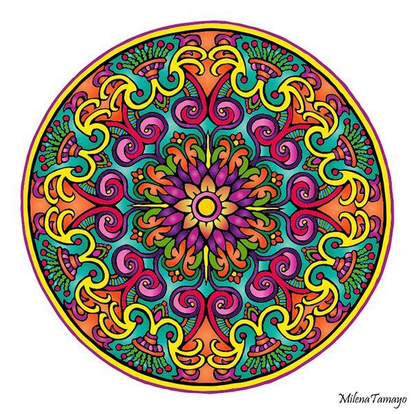 Mystical Mandala Coloring Book (Dover Design Coloring Books) by Alberta Hutchinson - p.23