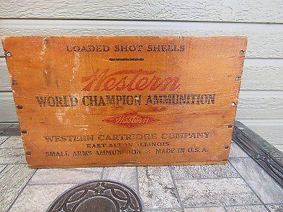 Vintage Old Wood Western Xpert Super Trap Minimax 500 12 Ga. CRATE Box