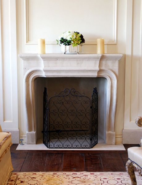 If an original marble fireplace mantle piece cannot be had then a sensuous reproduction such as - Fireplace mantel piece ...