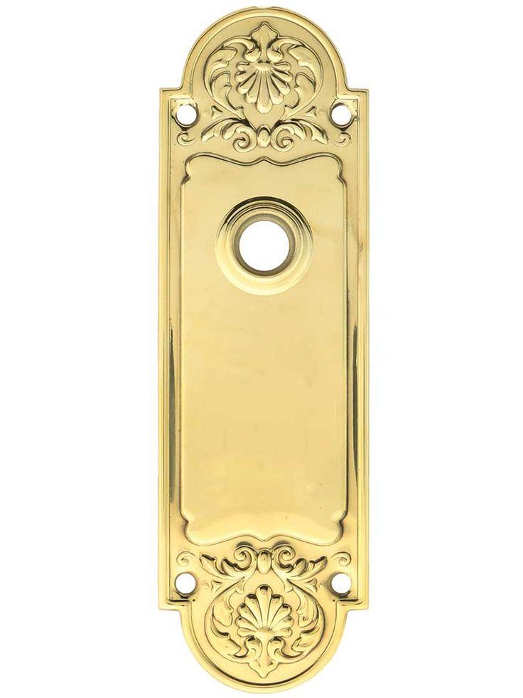 Brass door plate vintage warren