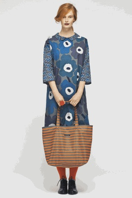 Marimekko. I like how there's enough variation in the blues that the gray stripes blend into their group.