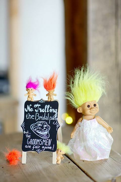 Funny wedding sign. Don't troll the bridal party!