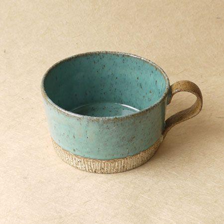 Turquoise soup mug
