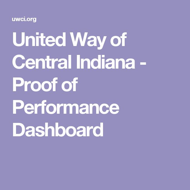 United Way of Central Indiana - Proof of Performance Dashboard