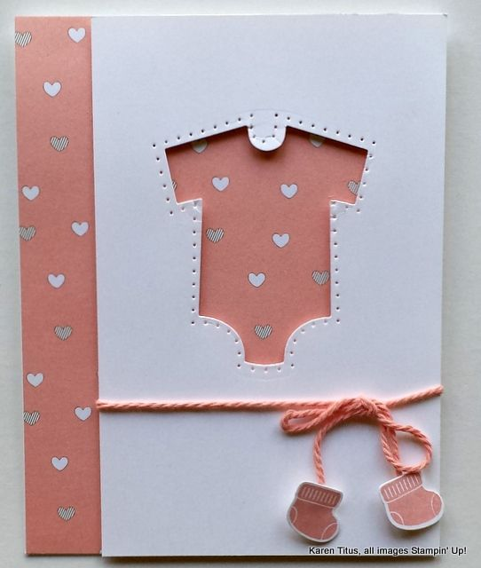 Something for Baby and the Baby's First Framelits are used on this cute baby card.
