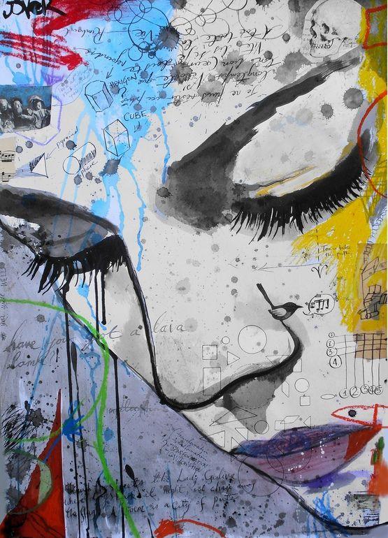 "Saatchi Online Artist: Loui Jover; Ink, 2013, Mixed Media ""the anatomy of melancholia """