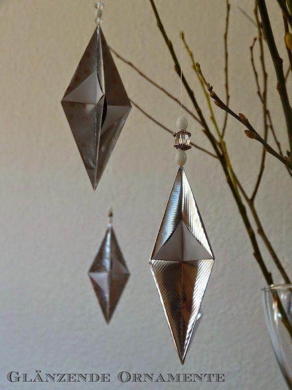 Jenny's Papierwelt: ~ Glänzend weihnachtliche Ornamente ~