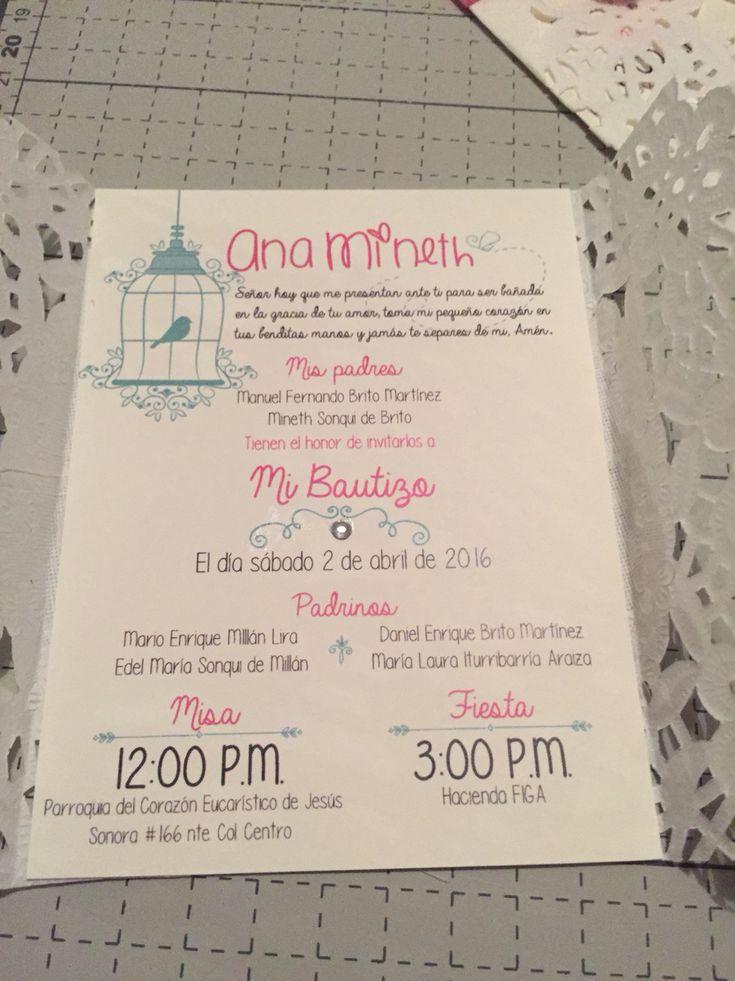 Invitación Bautizo Niña