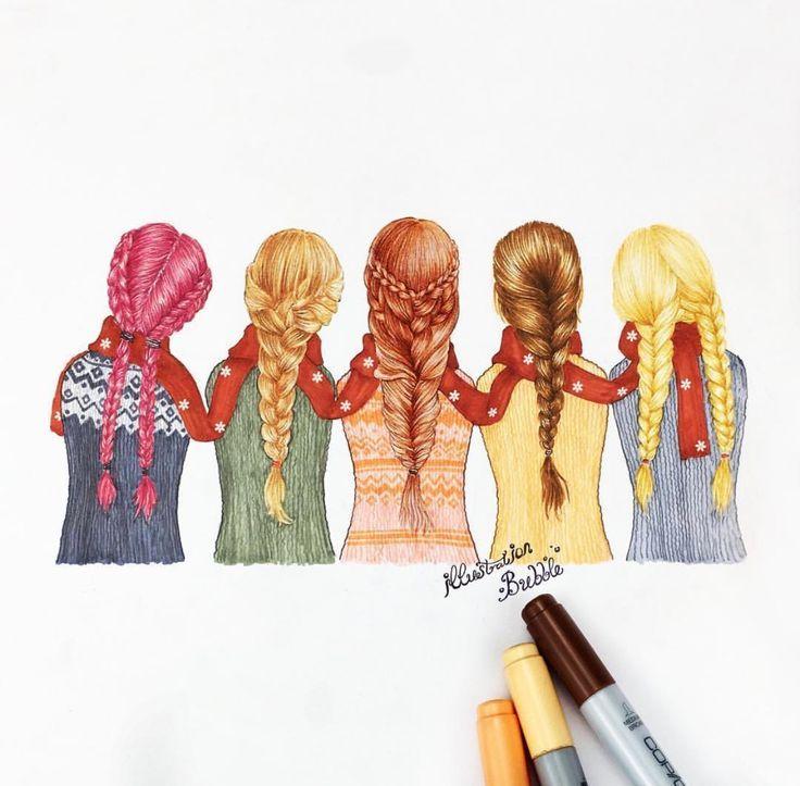Resultado De Imagen De Tumblr Drawings Friends Mejores Amigas Dibujo Dibujos Fotos De 5 Amigas