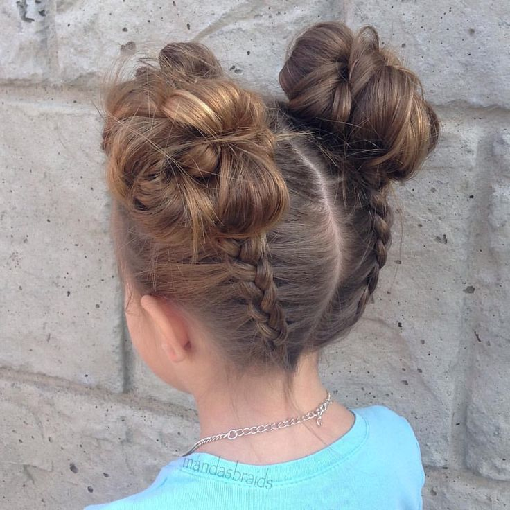 "556 Likes, 38 Comments - manda (@mandasbraids) on Instagram: ""Dutch braids into messy buns❥"""